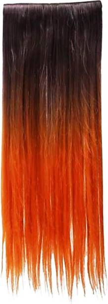 PEMA 2 Clip Red Double Shade Hair Extension
