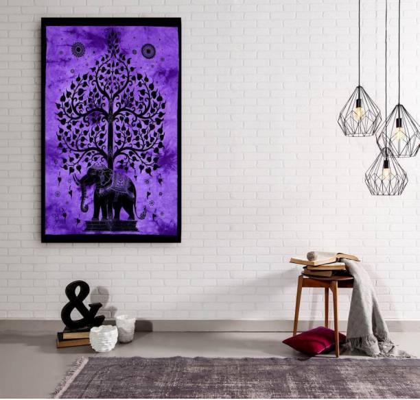 Handicraft-Palace Purple Black Printed Wall Hanging Decorative Art Tapestry