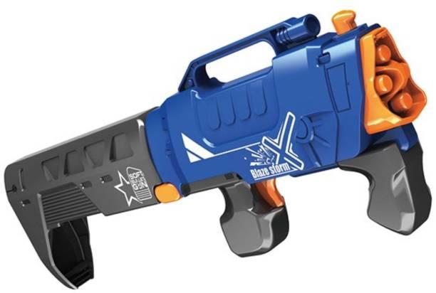 Miss & Chief Manual Foldable Blazer Gun with 10 Foam Bullets for Kids Guns & Darts