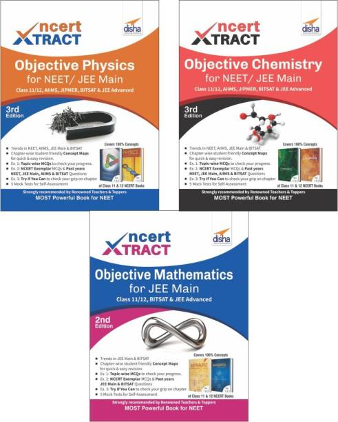 NCERT Xtract � Objective Physics, Chemistry, Mathematics for JEE Main, Class 11/ 12, BITSAT, JEE Advanced 3rd Edition