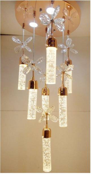Chandeliers buy chandeliers online at best prices in india peacock chandelier ceiling lamp aloadofball Choice Image