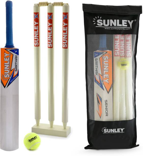 c67249d10a7 SUNLEY Sarthak Senior Size 7 Combo For Age Group 15+ Years Wooden Cricket  Kit