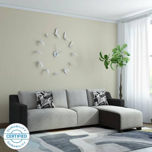 Bharat Lifestyle Divine Fabric 6 Seater  Sofa