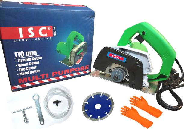 ISC Powerful Multipurpose Cutting Machine(110 mm) For Wood/ Marble/ Tile/ Granite/ Metal Cutting With Combo Handheld Tile Cutter