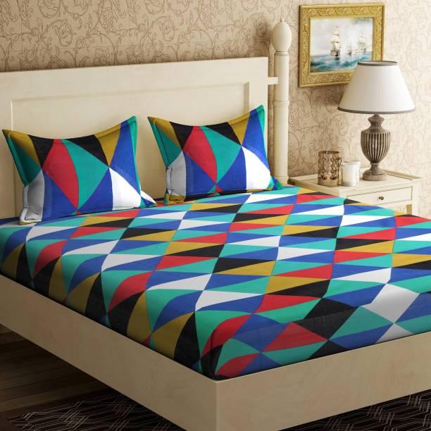 Home Elite 104 TC Cotton Double Geometric Bedsheet
