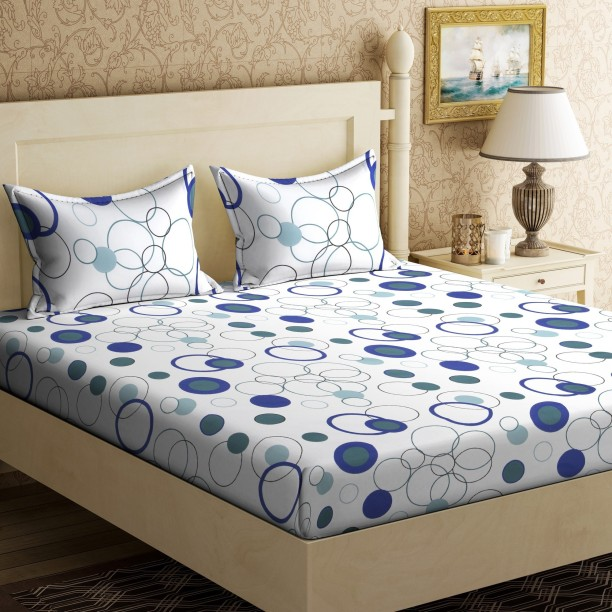 Home Elite 104 TC Cotton Double Polka Bedsheet