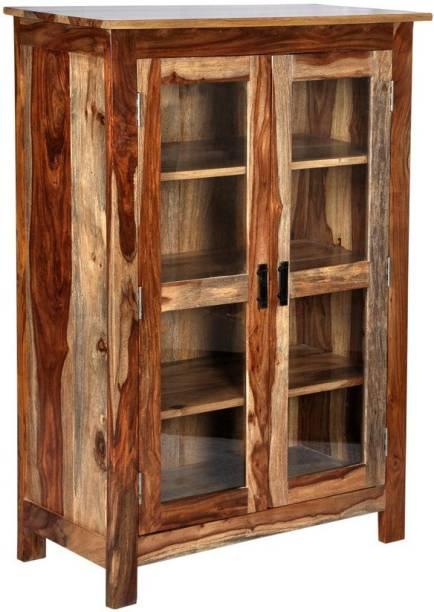 Balaji Wooden Sheesham Wood Solid Wood Close Book Shelf