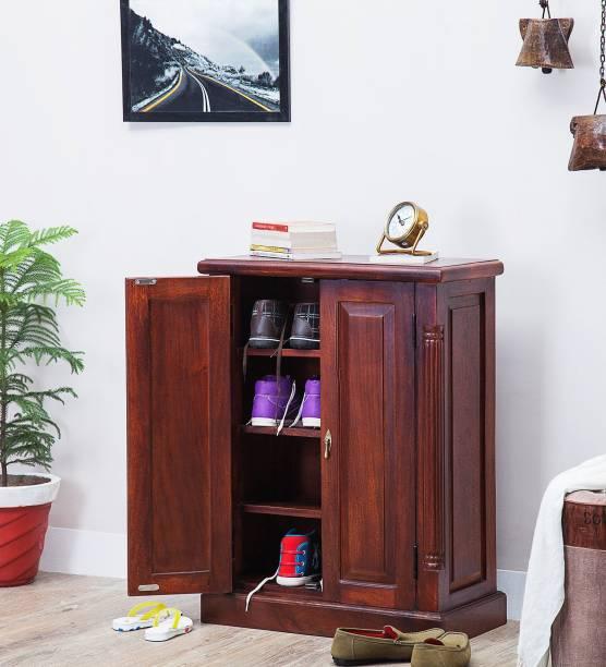 Balaji Wooden SBA Solid Wood Shoe Rack