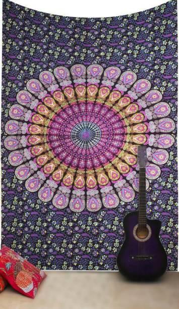 Handicraft-Palace Peacock Mandala Art Tapestry