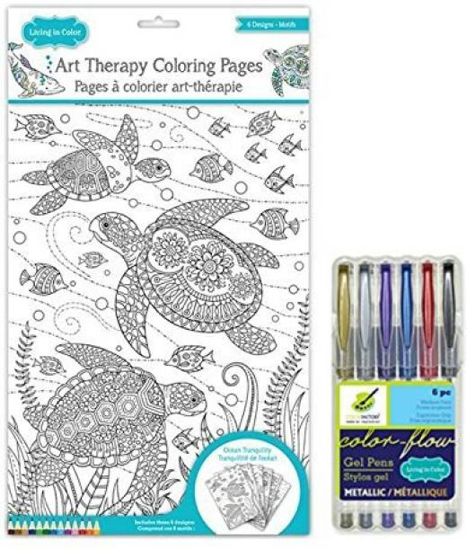 Color Factory Art Therapy Under The Sea Coloring Pages