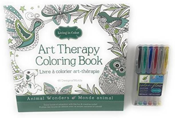 Color Factory Living In Art Therapy Coloring Book 48 Designs 98In X