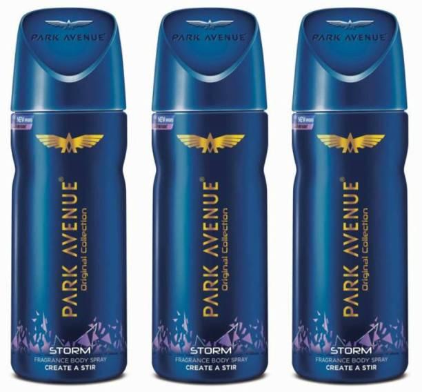 PARK AVENUE 3 Storm Deodorant Spray  -  For Men