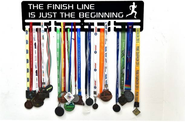 """Fitizen The Finish Line is Just the Beginning 30"""" Double Loop Medal Hanger Medal"""