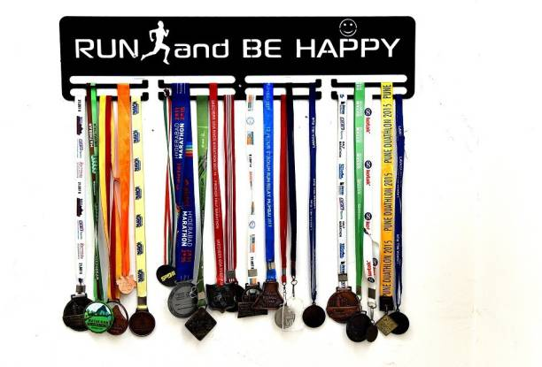 """Fitizen Run and be happy 30"""" Double Loop Medal Hanger Medal"""