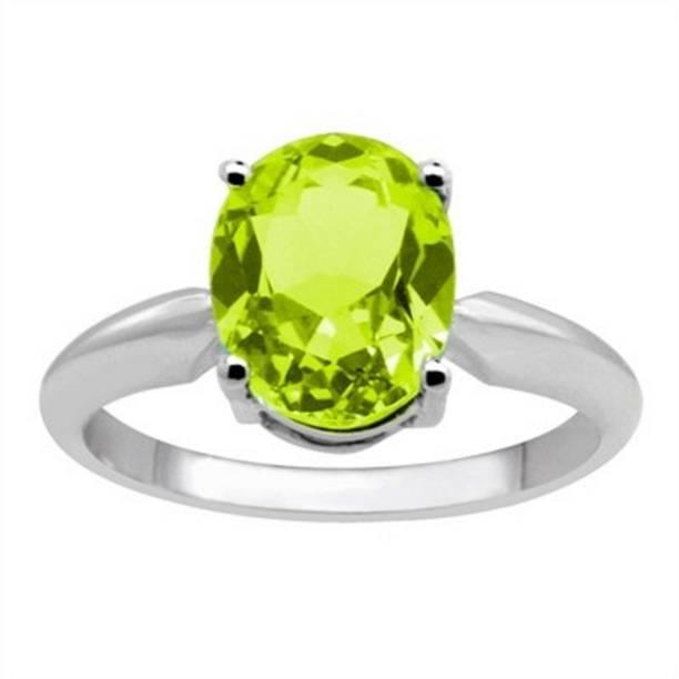 c47c05baba8b12 Jaipur Gemstone Peridot Ring With NAtural Stone Peridot Silver Plated Ring