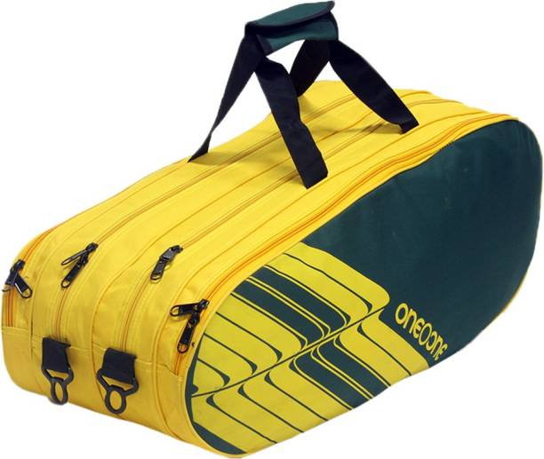 One O One Lines Collection Four Compartment Green & Yellow -