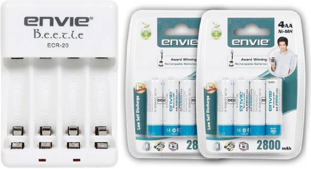 Envie ECR 20 WITH 2800 8PL BATTERY Camera Battery Charger