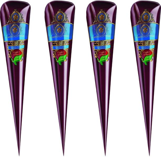 GRAPPLE DEALS Brand New High Quality Cone 4 Pcs For All Occasions Natural Mehendi