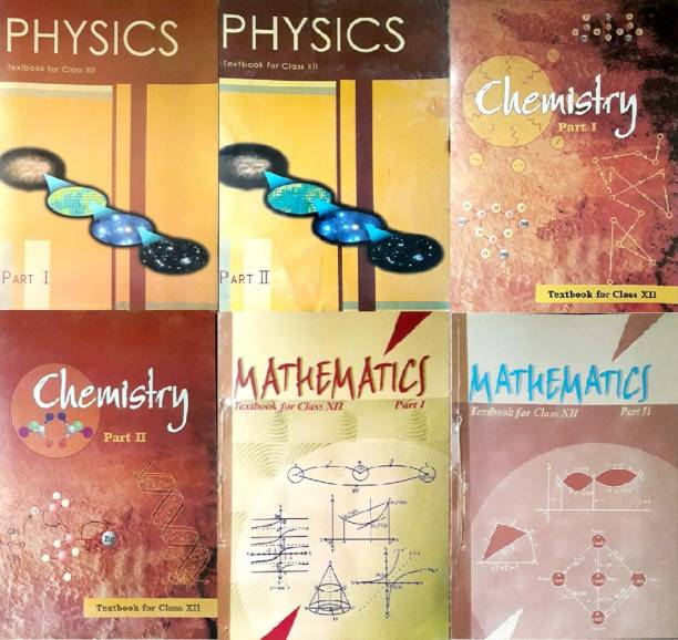 Physics Part - 1 & 2 , Chemistry Part - 1 & 2 And Mathematics Textbook Part - 1 & 2 For Class 12 ( Set Of 6 Books )