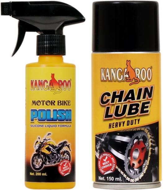 KANGAROO CHAIN LUBRICANT SPRAY & MOTORBIKE POLISH Combo