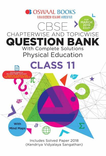 Oswaal CBSE Chapter wise Ques. Bank Class 11 Physical Education (For 2019 Exam)