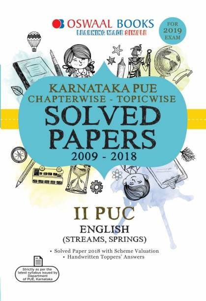 Oswaal Karnataka PUE Chapter wise Solved Papers for II PUC English (For 2019 Exam)