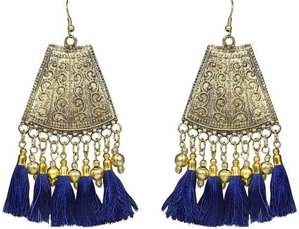 5e3adcce17a Sitashi Sitashi Trendy Western Wear Afgani Style Tassel Dangler Earrings  For Girls and Women Metal Tassel