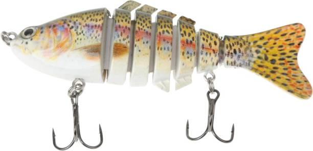 Magideal Multi Jointed (7 segment) Swimbait Life Like Bass Fish Fish Decoy Fishing Lure
