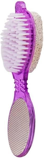 Epyz Foot File 4 in 1 with Pedicure Brush Multi use Pedicure Paddle Brush [ Clean Scrub, Pumice Stone ,File and Buff ] Pedicure Tool Pedicure Brush for feet foot Scrub [ Pack Of 1 ]