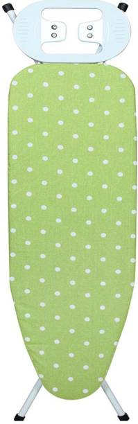 MEDED Premium International Quality, Foldable & Height Adjustable (110 x 33 cm), Green Polka dots Ironing Board