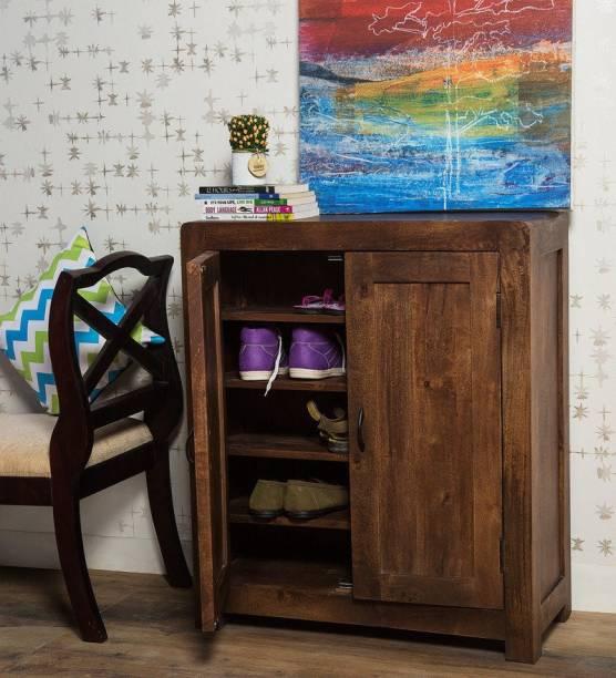 Balaji Wooden Solid Wood Shoe Rack