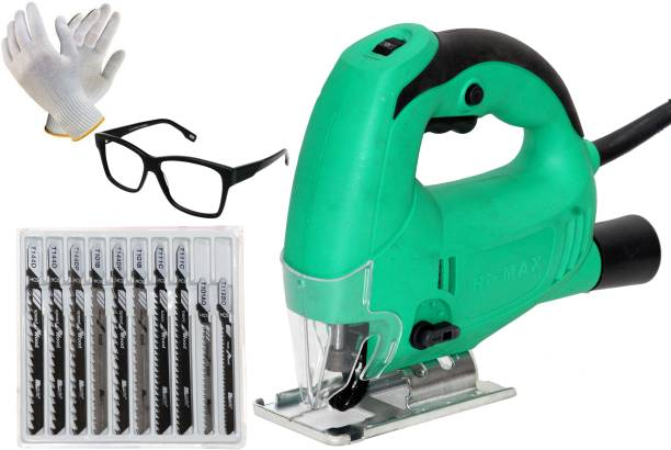 Digital Craft Jig Saw Machine Corded-Electric Cutter Wood & Metal with Powerful , 710W Variable Speed Control Jigsaw with Adujustable Cutting Angel With Led Light New Glass Cutter