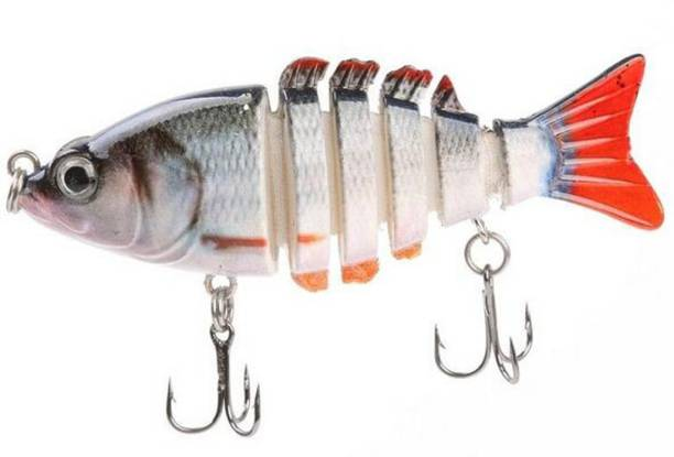 Magideal Fishing Lure Multi Jointed Multi Jointed (6 segment) Swimbait Life Fish Decoy Fishing