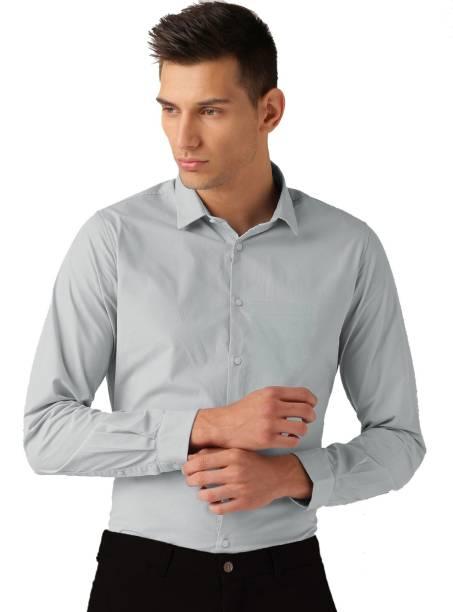 0e2cf118f80 Van Galis Men s Solid Formal Grey Shirt