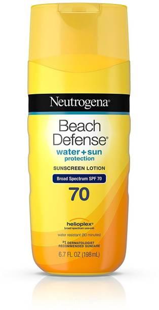 NEUTROGENA Beach Defense Sunscreen Lotion With Broad Spectrum Spf 70 Protection, 6.7 oz - SPF 70 PA++++