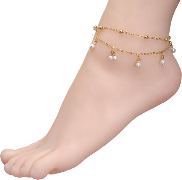 anklet bracelet yueyin cute coin jewelry p pendant hollow plated bell womens for tree women silver anklets s