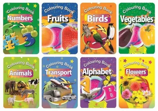 Colouring Books (Set of 8 Books)