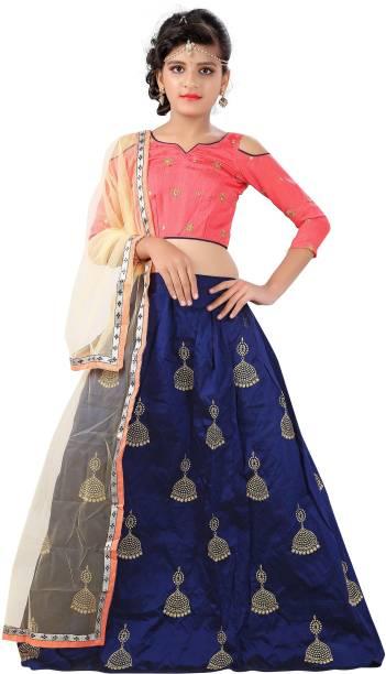 5de0dd6ec021 F Plus Fashion Girl's Lehenga Choli Party Wear Embroidered Lehenga, Choli  and Dupatta Set