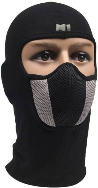 MOCKHE Black, Grey Bike Face Mask for Men & Women