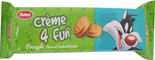 Dukes Creme 4 Fun Pineapple Flavoured Sandwich Biscuits