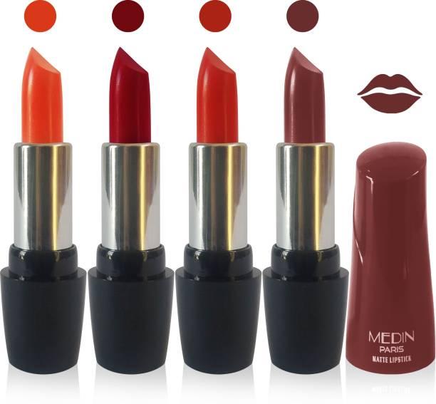 MEDIN paris ultra hd elegant colors matte lipstick cosmetics makeup 007 serires set of 4 color