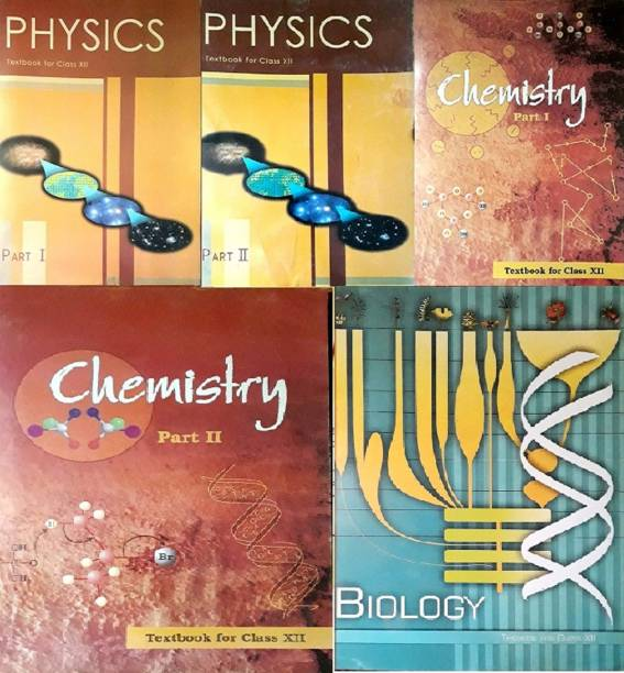Physics Part 1 & 2, Chemistry Part -1 & 2 And Biology Textbook For Class - 12