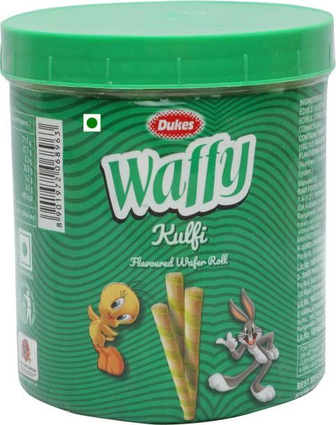 Dukes Waffy Kulfi Flavoured Wafer Rolls