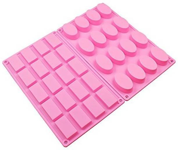 dc9652f286 Baker Depot Silicone Mold For Handmad Soap Small Size Diy Tools 16 Cavity  Oval 20 Cavity