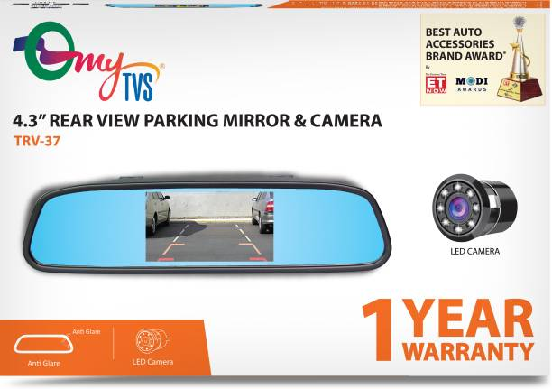Rear view mirrors buy rear view mirrors online at best prices mytvs trv 37 43 inches rear view mirror reverse camera with 2yr warranty black ccuart Gallery