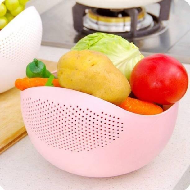 Ketsaal Rice, Fruit, Vegetable Bowl Strainer Colander