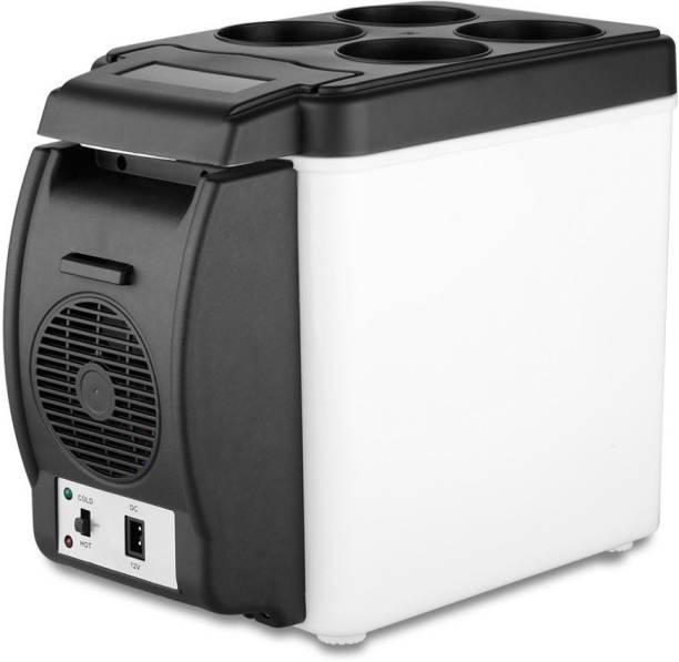 Presha 2176 Mini Refrigerator Portable Fridge 12V 6L Auto Mini Car Travel Fridge ABS Multi-Function Cooler Freezer Warmer Cooling & Warming Refrigerator 6 L Car Refrigerator