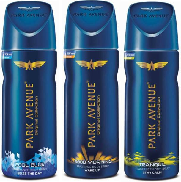 a28d129ff54c Park Avenue 1 Cool Blue and 1 Good Morning and 1 Tranquil Deodorant Combo  Pack of