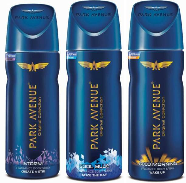 PARK AVENUE 1 Storm and 1 Cool Blue and 1 Good Morning Deodorant Combo for Men (Pack of 3) Deodorant Spray  -  For Men