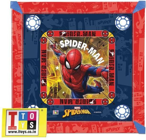 MARVEL Spider-Man Carrom & Ludo 20x20 size 2-in-1 Carrom Board Board Game